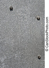 Silver metal texture background with screws.