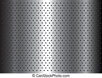 Silver metal background with dot pattern