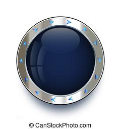 Silver metal creative button