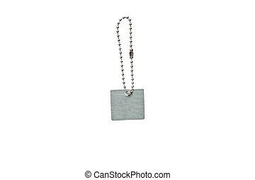 Silver metal key tag