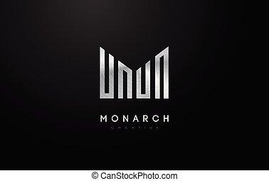 Silver Metal M Logo. M Letter Icon Design Vector
