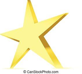 silver metal star vector icon symbol