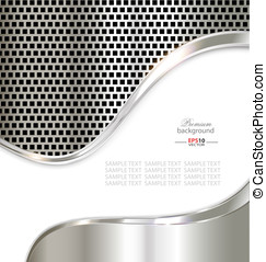 Silver metal template background for creative design