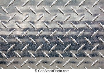 silver metal treads close up shot