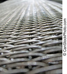 silver metallic grid, metal corrosion, industry details