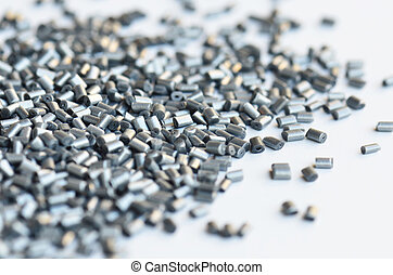 silver metallic polymer resin for injection moulding on...