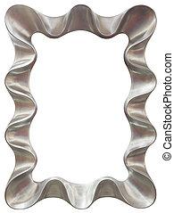 Silver Mirror Frame Cutout