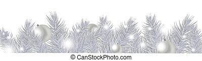 Silver New Year Garland