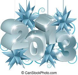 silver, och blåa, jul, 2013, orna