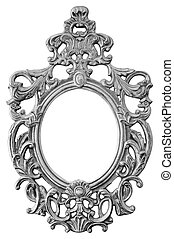 silver ornate oval frame