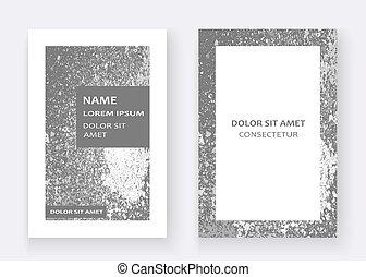 Silver paint splash, splatter explosion glitter artistic frame c