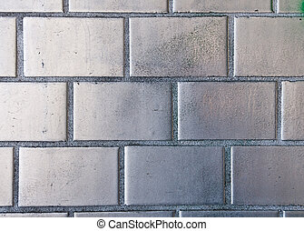 Silver painted brickwall