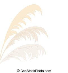 Silver Pampas grass Card template frame on the left with ...