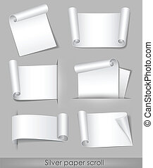 Silver paper scroll
