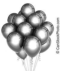 Silver party ballooons