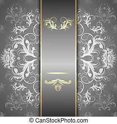 silver pattern on a beautiful background