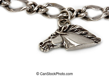 silver pendants on the chains