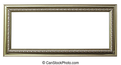 silver picture frame on white background