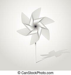 silver pinwheel