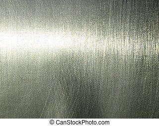 Polished silver surface.