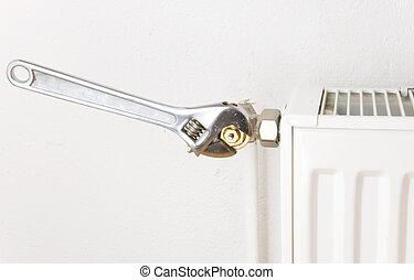 silver pliers radiator