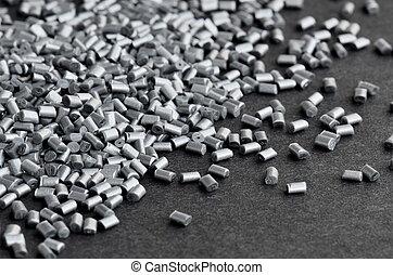 silver polymer on grey - silver metallic polymer resin on...