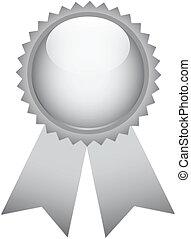 Silver prize ribbon