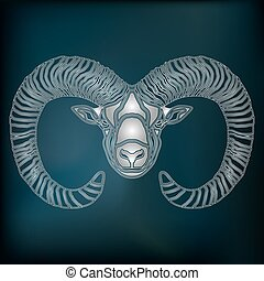 Silver Ram, zodiac Aries sign