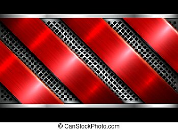 Silver red metallic background