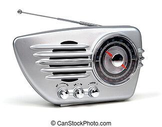 retro radio - silver retro radio