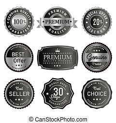 Silver retro vintage seal badge and label sale premium quality product