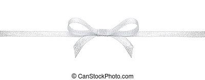 Silver ribbon and bow