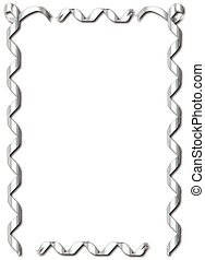 Silver Ribbon Border