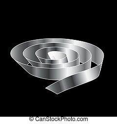Silver Ribbon scroll