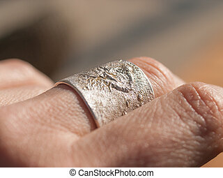Silver Ring on Hand