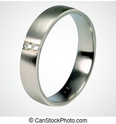 Silver Ring. Vector
