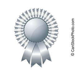 Silver rosette isolated on white background