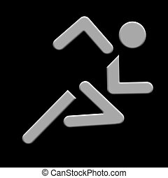 silver runner - running