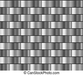 Silver gradient pattern - Silver seamless background with...