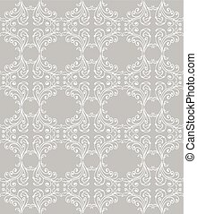 Silver seamless floral pattern