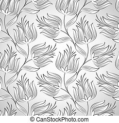 Silver seamless flower wallpaper
