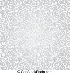 Silver seamless wallpaper