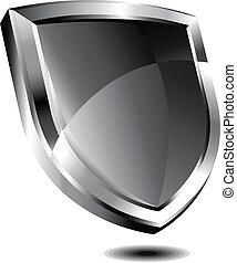 Silver shield - Vector drawing of Silver shield
