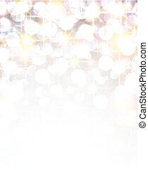 Silver shiny christmas background. - Silver shiny defocused...