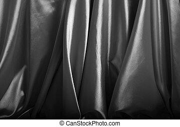 Silver silk background close up