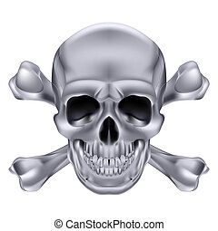 Skull and crossbones - Silver Skull and crossbones. ...