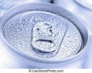 Silver soda cans