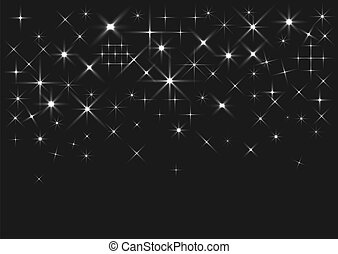 Silver sparkles background