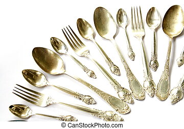 Silver Spoons, Tea Spoons and Forks