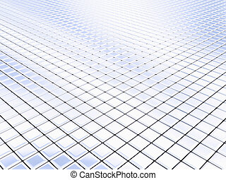 Silver squares - Cyberspace generated by silver square...